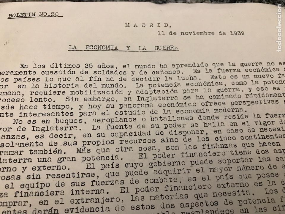 BOLETÍN DE GUERRA 1939 LA ECONOMÍA Y LA GUERRA-LAS FUERZAS MILITARES INGLESES (Militar - II Guerra Mundial)