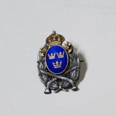 Militaria: INSIGNIA PLATA.TIRADOR DE PISTOLA DE LA POLICIA DE 2ª CLASE DE SUECIA.2ª GUERRA MUNDIAL.1942. Lote 223700615