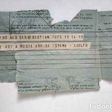 Militaria: ME VOY A RUSIA, ARRIBA ESPAÑA · DIVISIÓN AZUL. WW2. TENIENTE ADOLFO CASTAÑEDA CAGIGAS.. Lote 224113037