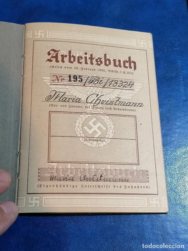 Militaria: Libreta TRABAJO DE ALEMÁN (ARBEITSBUCH) Pertenecio Administrativa Maria Christmann Alemania - Foto 2 - 225028437
