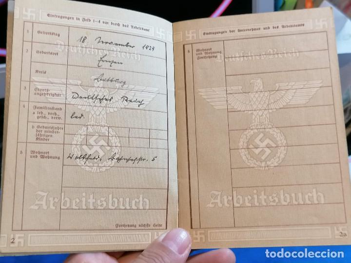 Militaria: Libreta TRABAJO DE ALEMÁN (ARBEITSBUCH) Pertenecio Administrativa Maria Christmann Alemania - Foto 5 - 225028437