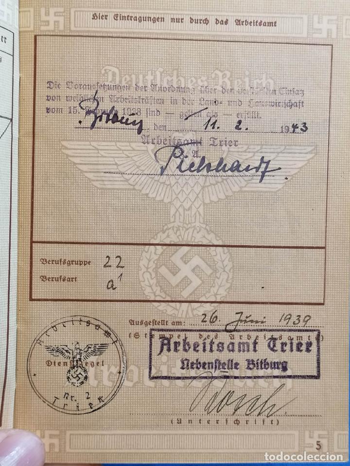 Militaria: Libreta TRABAJO DE ALEMÁN (ARBEITSBUCH) Pertenecio Administrativa Maria Christmann Alemania - Foto 6 - 225028437