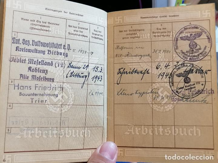 Militaria: Libreta TRABAJO DE ALEMÁN (ARBEITSBUCH) Pertenecio Administrativa Maria Christmann Alemania - Foto 7 - 225028437