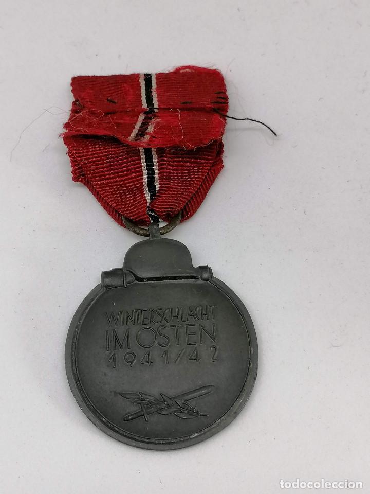 Militaria: MEDALLA NAZI ALEMANA DE LA CAMPAÑA 1941/42 , INVIERNO EN RUSIA CON MARCAJE FABRICA (5) - Foto 3 - 225034220