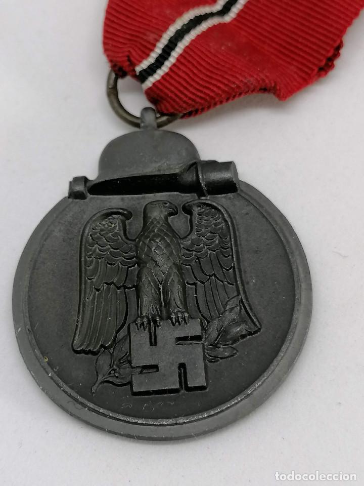 Militaria: MEDALLA NAZI ALEMANA DE LA CAMPAÑA 1941/42 , INVIERNO EN RUSIA CON MARCAJE FABRICA (5) - Foto 4 - 225034220