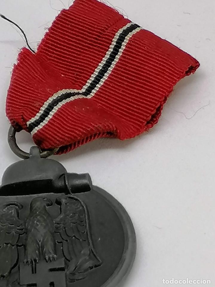 Militaria: MEDALLA NAZI ALEMANA DE LA CAMPAÑA 1941/42 , INVIERNO EN RUSIA CON MARCAJE FABRICA (5) - Foto 6 - 225034220