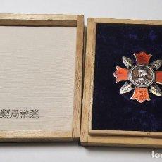 Militaria: MEDALLA PLATA MACIZA DE JAPON.HERIDO EN COMBATE.2ª GUERRA MUNDIAL.CAJITA ORIGINAL CON MARCAJES. Lote 225573665