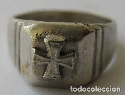 RARO ANILLO PLATA NAZI WEHRMACHT SEGUNDA GUERRA MUNDIAL (Militar - II Guerra Mundial)