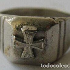 Militaria: RARO ANILLO PLATA NAZI WEHRMACHT SEGUNDA GUERRA MUNDIAL. Lote 226392115