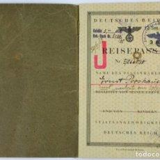 Militaria: PASAPORTE ALEMÁN PARA UNA PERSONA JUDÍA MARCADO «JUDENSTEMPEL» DE 1938. Lote 227190595