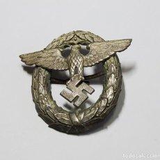 Militaria: DISTINTIVO GORRA PLATO DE OFICIAL DE POLICIA DEL TERCER REICH ALEMAN.2ª GUERRA MUNDIAL.. Lote 227698789