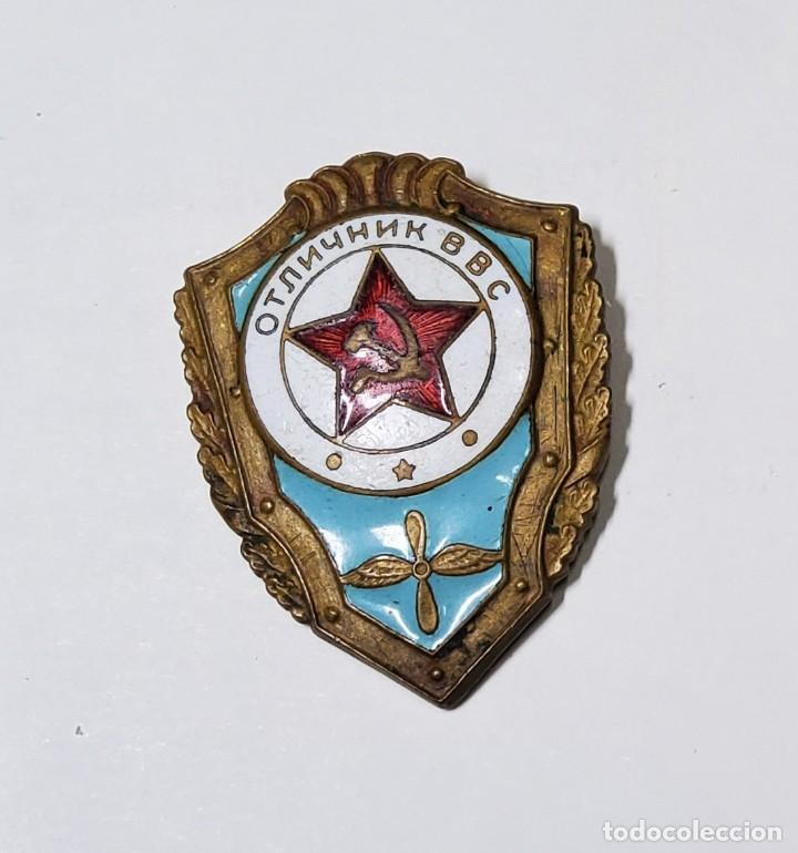 DISTINTIVO DE SOLDADO EXCELENTE DEL EJERCITO DEL AIRE DE RUSIA.SEGUNDA GUERRA MUNDIAL (Militar - II Guerra Mundial)