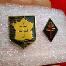 Militaria: INSIGNIAS WWII FRANCIA LIBRE RESISTENCIA , SEGUNDA GUERRA MUNDIAL, 2 DIVISIÓN BLINDADA. Lote 244862050