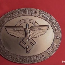 Militaria: PLACA NSFK DEUTSCHLANDFLUG 1938. PERFECTO ESTADO NUMERADA TERCER REICH ORIGINAL. Lote 231598055