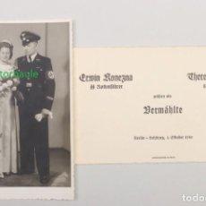 Militaria: FOTO Y INVITACIÓN DE BODA DE UN MIEMBRO SS DEL LEIBSTANDARTE ADOLF HITLER. ORGINAL TERCER REICH. Lote 233863315