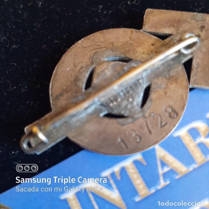Militaria: Distintivo de deportes y servicios de Hitlerjugend en plata - Foto 2 - 234684745