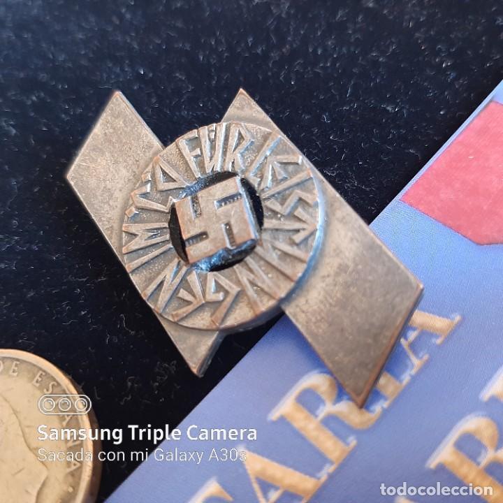 Militaria: Distintivo de deportes y servicios de Jungvolk Hitlerjugend en plata - Foto 2 - 234685335