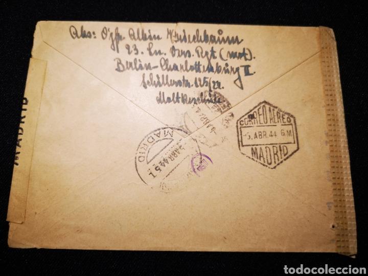 Militaria: Carta Reich censura militar España - Foto 2 - 234901110