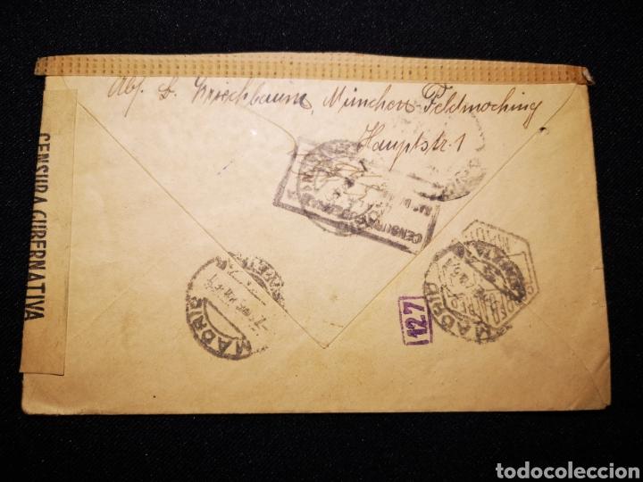 Militaria: Carta Reich censura militar España - Foto 2 - 234901400