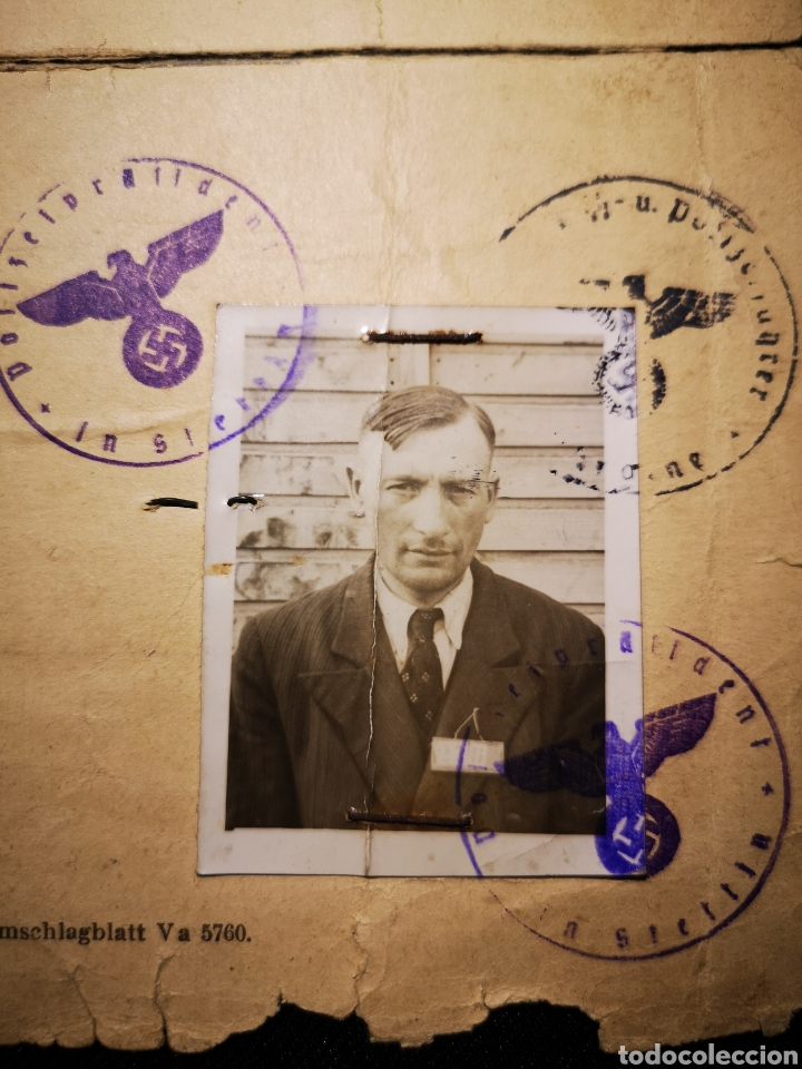 Militaria: Documento prisionero polaco, gestapo ss - Foto 2 - 234903740