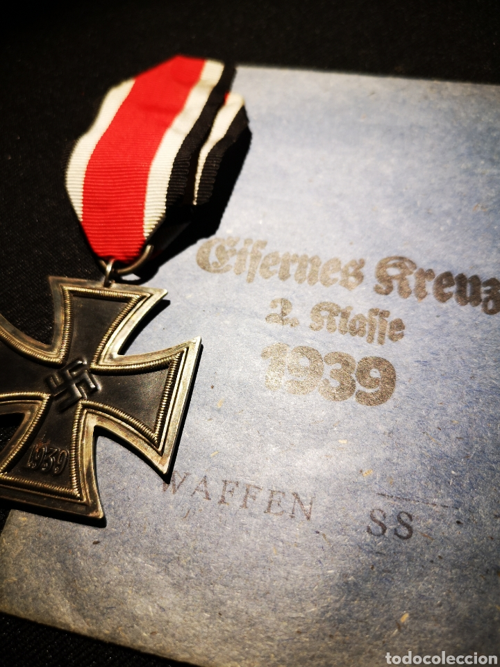 Militaria: Cruz de hierro 2 clase + sobre Waffen ss - Foto 2 - 234906905