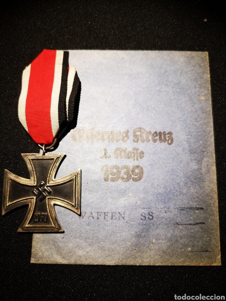 CRUZ DE HIERRO 2 CLASE + SOBRE WAFFEN SS (Militar - II Guerra Mundial)