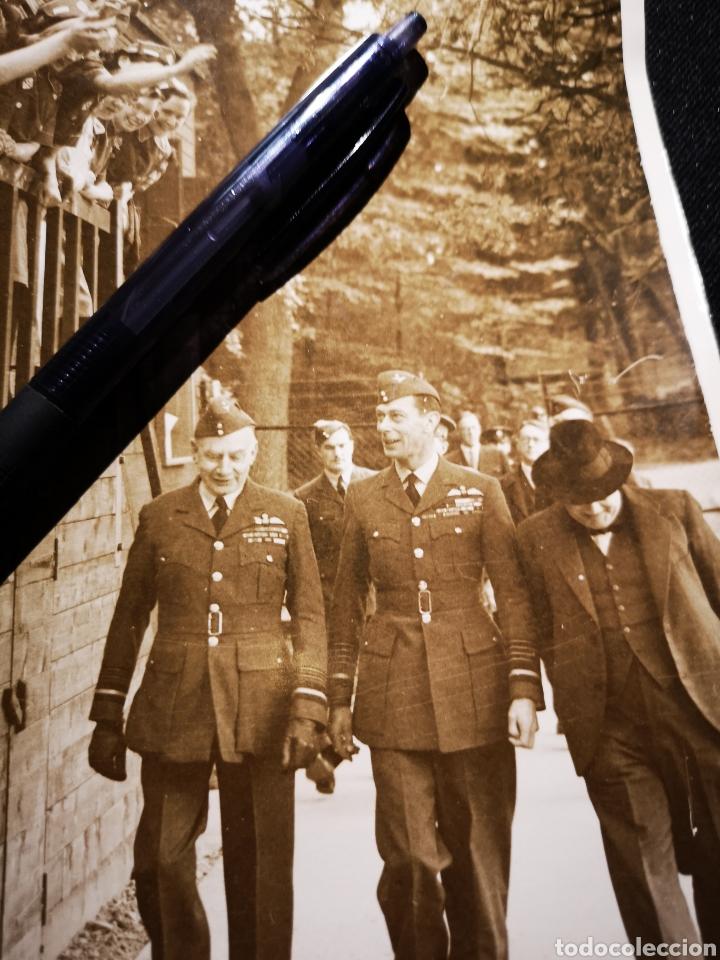 Militaria: Fotografía the Times, del Rey Eduardo VIII con Churchill, original - Foto 2 - 234912455