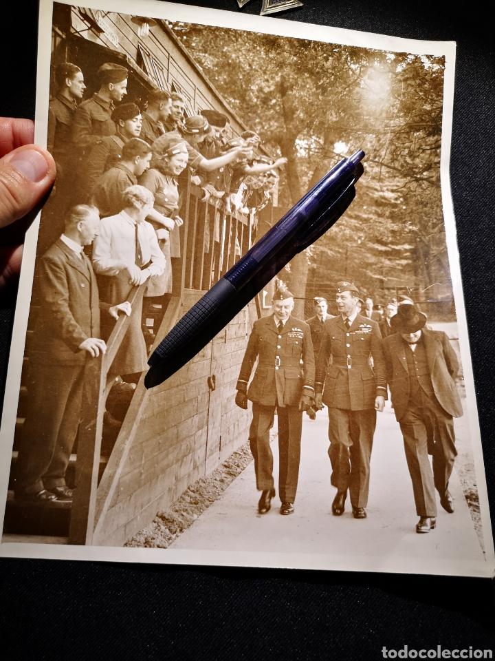 FOTOGRAFÍA THE TIMES, DEL REY EDUARDO VIII CON CHURCHILL, ORIGINAL (Militar - II Guerra Mundial)