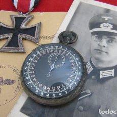 Militaria: ANTIGUO CRONOMETRO MILITAR EJERCITO ALEMÁN II SEGUNDA GUERRA MUNDIAL III REICH WEHRMACHT Y FUNCIONA. Lote 235278545