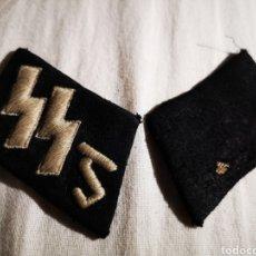 Militaria: PAREJA DE PARCHES DE CUELLO SS, ORIGINAL. Lote 236353110
