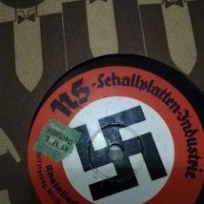 Militaria: 78 RPM NAZI PIZARRA (NSDAP)RHEINLIEDER POTPOURRI/ GRÜN IST DIE HEID. Lote 236706060