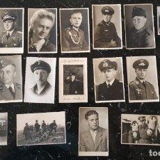 Militaria: LOTE 19 RETRATOS A TAMAÑO POSTAL. Lote 242126470