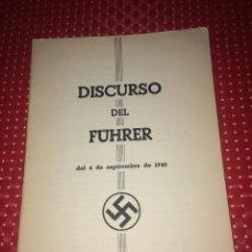 Militaria: DISCURSO DEL FÜHRER DEL 4 DE SEPTIEMBRE DE 1940 - SPORTPALAST DE BERLÍN. Lote 243494055