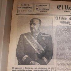 Militaria: TOMO EL NORTE DE CASTILLA PRIMER SEMESTRE DEL AÑO 1944 - SEGUNDA GUERRA MUNDIAL MAS DE 150 DIARIOS. Lote 245399605