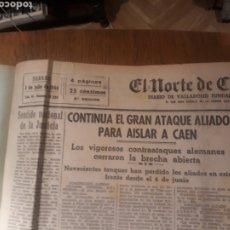 Militaria: TOMO EL NORTE DE CASTILLA SEGUNDO SEMESTRE DEL AÑO 1944 . SEGUNDA GUERRA MUNDIAL MAS DE 150 DIARIOS. Lote 245470785