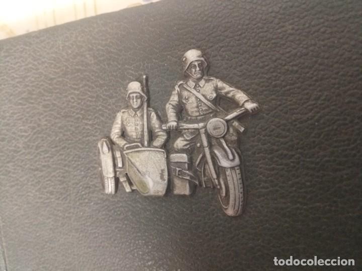 Militaria: Álbum fotos nazi alemán III Reich insignia sidecar - Foto 2 - 249063060