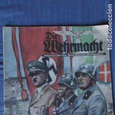Militaria: EDICION ESPECIAL DE LA REVISTA DIE WEHRMACHT DEDICADA A LA VISITA DE HITLER A ITALIA EN 1938.. Lote 252895155
