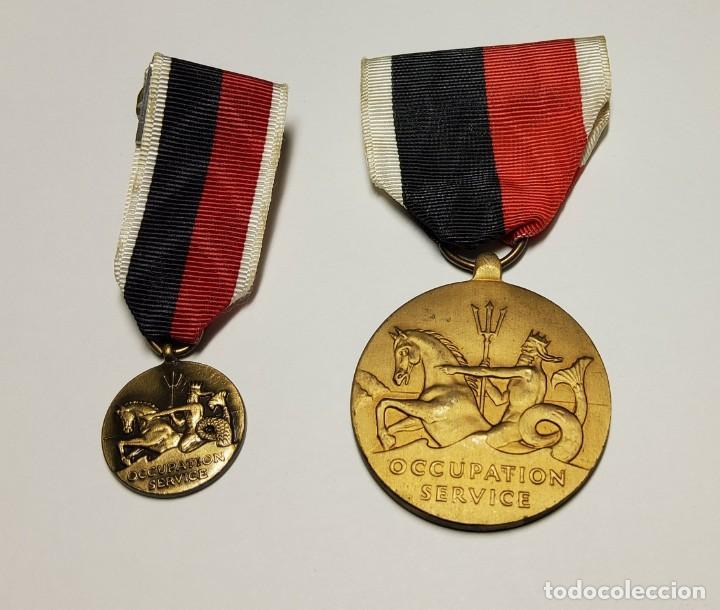 MEDALLA Y MINIATURA DEL EJERCITO DE LOS ESTADOS UNIDOS.SEGUNDA GUERRA MUNDIAL (Militar - II Guerra Mundial)