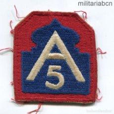 Militaria: ESTADOS UNIDOS DE AMÉRICA. USA. PARCHE DEL 5TH ARMY DE LA SEGUNDA GUERRA MUNDIAL.. Lote 254343150