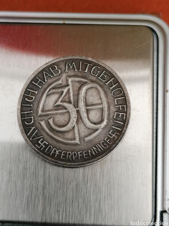 Militaria: Hitler Medalla 30 aniversario Opferpennige en plata - Foto 4 - 258146135