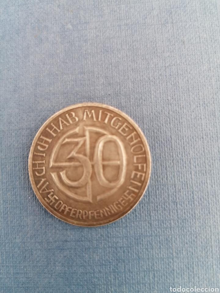 Militaria: Hitler Medalla 30 aniversario Opferpennige en plata - Foto 2 - 258146135