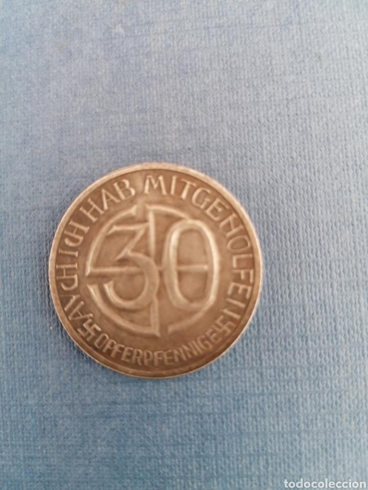 Militaria: Hitler Medalla 30 aniversario Opferpennige en plata - Foto 5 - 258146135