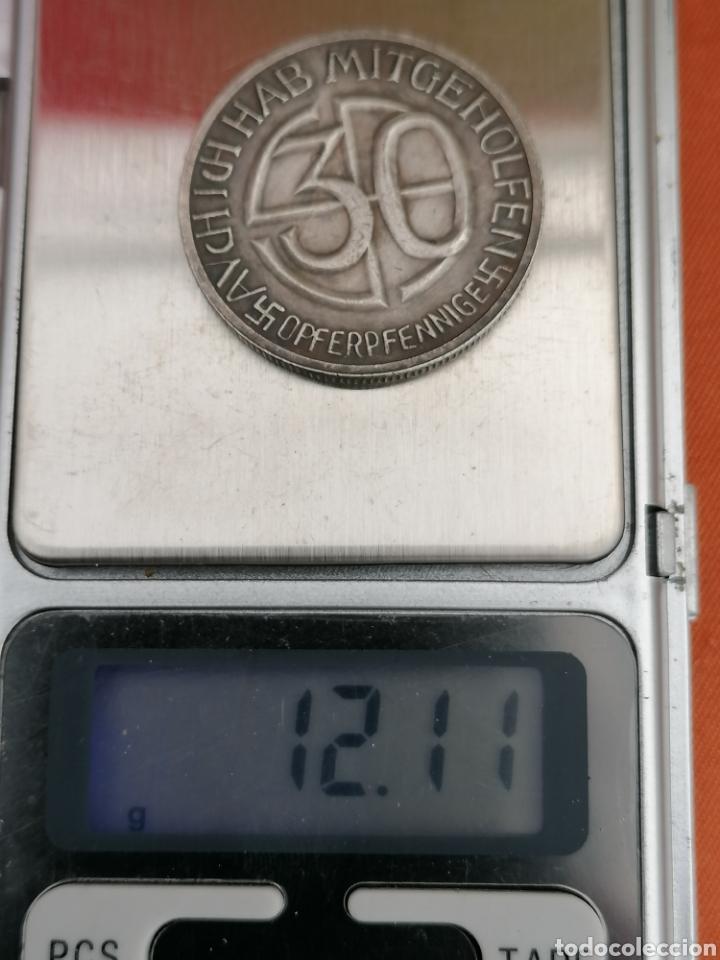 Militaria: Hitler Medalla 30 aniversario Opferpennige en plata - Foto 7 - 258146135