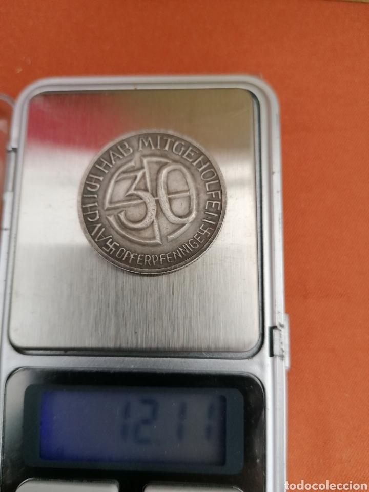 Militaria: Hitler Medalla 30 aniversario Opferpennige en plata - Foto 3 - 258146135