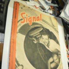Militaria: SIGNAL Nº 19 OCTUBRE 1941 (EN ESTADO NORMAL PERO CON ROTURA EN LOMO Y GARABATO EN PORTADA). Lote 264451714