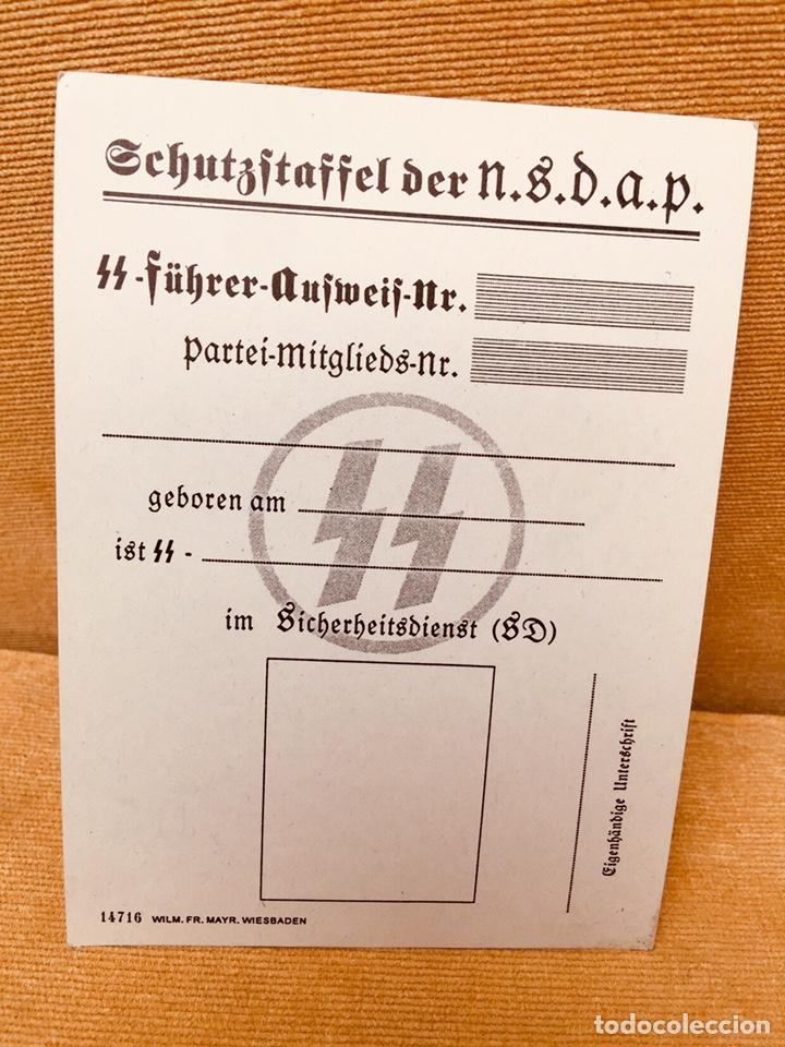 CARNET ORIGINAL DE LAS SS,ALEMANIA NAZI DE HITLER,NSDAP,RARÍSIMO,COLECCIONISMO (Militar - II Guerra Mundial)