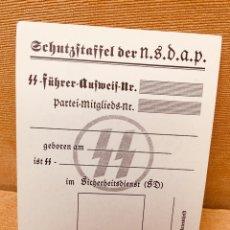 Militaria: CARNET ORIGINAL DE LAS SS,ALEMANIA NAZI DE HITLER,NSDAP,RARÍSIMO,COLECCIONISMO. Lote 264695949