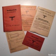 Militaria: POSTSPARBUCH. LIBRETA BANCARIA I DOCUMENTACION ALEMANIA NAZI (DEUTSCHE REICHPOST). TERCER REICH. WW2. Lote 267371714