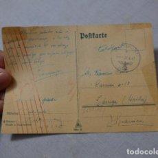 Militaria: * ANTIGUA CARTA POSTAL DE LA DIVISION AZUL EN 1942 A TARREGA ( LLEIDA ). ORIGINAL. ZX. Lote 267439939