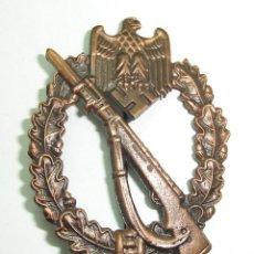 Militaria: BROCHE DISTINTIVO DE ASALTO DE INFANTERIA JFS SA ALEMANIA NAZI ALEMAN. Lote 267844529